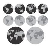 World map theme Royalty Free Stock Photos