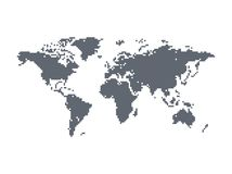 World map theme Royalty Free Stock Image