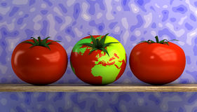 World map tomato Royalty Free Stock Photo