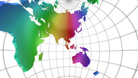 World Map Turns Into a Globe. A look inside stock video