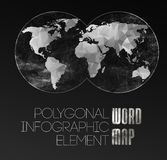 World Map and typography royalty free illustration
