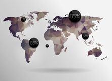World Map and typography Royalty Free Stock Images