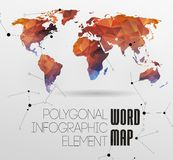 World Map and typography Stock Image