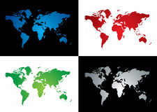 World map variation Royalty Free Stock Images
