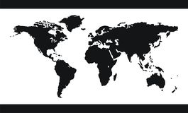 World map vector stock illustration