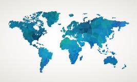 World map vector abstract illustration. Geometric pattern design Stock Photos