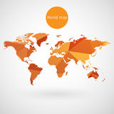 World map vector Royalty Free Stock Photos