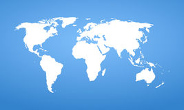 World map. Vector detail design. Royalty Free Stock Photo