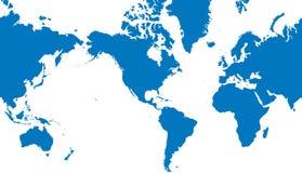 World map vector illustration. Blue world map vector illustration royalty free illustration