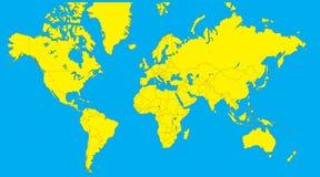 World map vector illustration Stock Photography