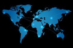 World Map Vector Illustration. On a black background vector illustration