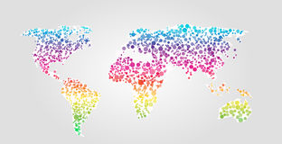 World map vector illustration in dots style Royalty Free Stock Photo