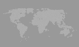 World Map Vector Illustration Stock Images