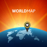 World map vector illustration, infographic design Royalty Free Stock Photos