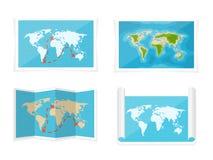 World map. Vector illustration. Navigation. Africa Antarctica Australia Eurasia North America. World map. Vector illustration. Navigation. Africa Antarctica royalty free illustration