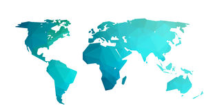 World map vector illustration in polygonal style Royalty Free Stock Image