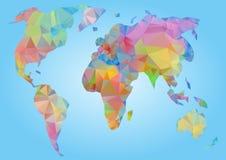 World Map vector. Polygonal triangle geometric Stock Photos