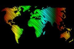 World Map - vector scribble Royalty Free Stock Photos
