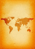 World map - vertical Stock Image