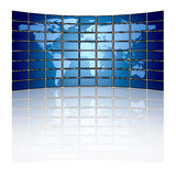 World map on a video wall Royalty Free Stock Photography