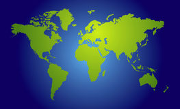 World map view Royalty Free Stock Image