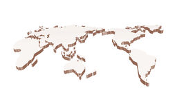 World map vintage Royalty Free Stock Photography