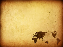 World map vintage artwork Stock Images