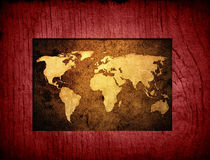 World map vintage artwork Royalty Free Stock Images