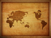World map vintage artwork Royalty Free Stock Photography
