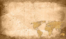 World map vintage artwork Stock Image