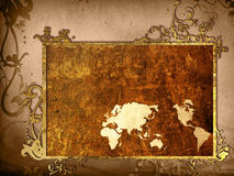 World map vintage artwork Stock Photo