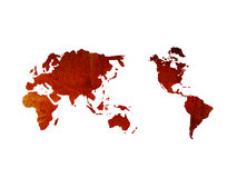 World map-vintage artwork Royalty Free Stock Photography