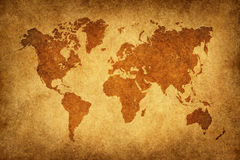 World map in vintage pattern Royalty Free Stock Image