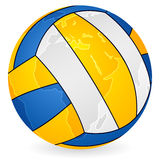 World map volleyball ball Royalty Free Stock Images