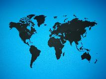 World map on the wall royalty free illustration