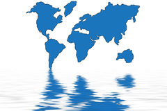 World map in water Royalty Free Stock Photos