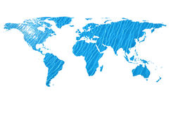 World map and water Royalty Free Stock Images
