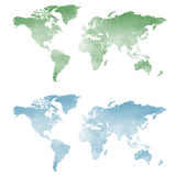 World map in watercolor texture Stock Images