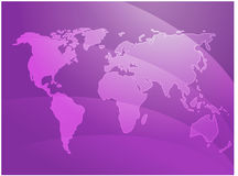 World map waves Royalty Free Stock Images