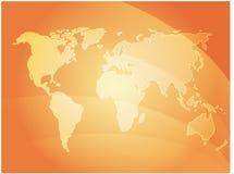 World map waves Stock Photo