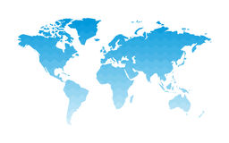 World map waves of water Royalty Free Stock Photography