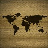 World map web icon, flat design Royalty Free Stock Photos