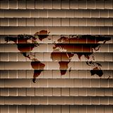 World map web icon, flat design Stock Photo
