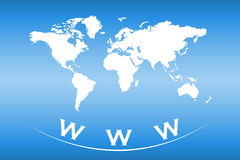 World map with web and internet concept Stock Images