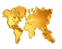 World map on a white background Royalty Free Stock Images