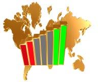 World map on a white background. 3d illustration. World map on a white background Royalty Free Stock Photo