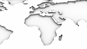 World Map stock footage