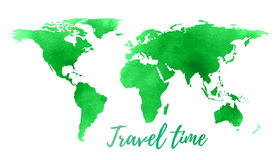World map on white background. vector. Stock Photos
