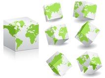 World map on white boxes Stock Photos