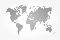 World map and whorl line . Stock Photos